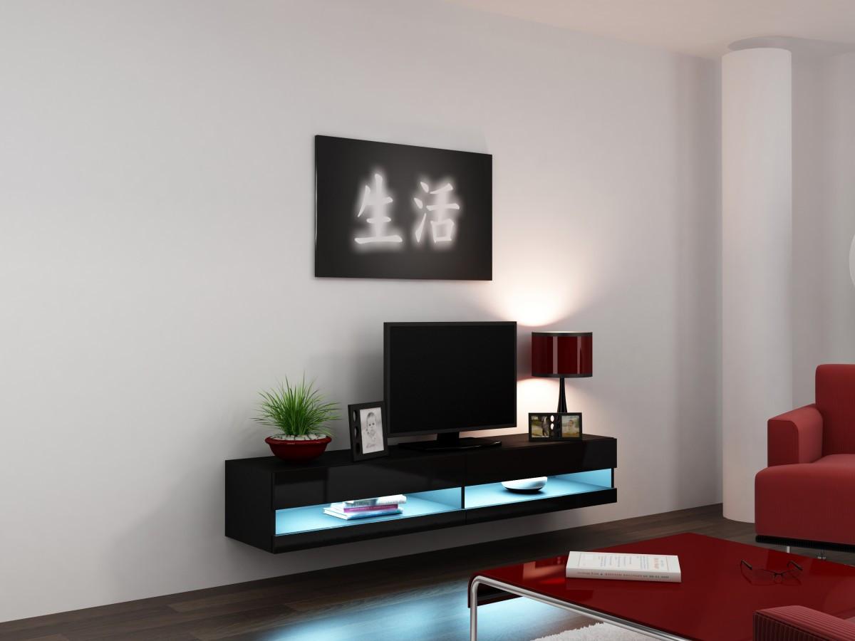 ТВ тумба RTV VIGO NEW 180 (черный) (CAMA)