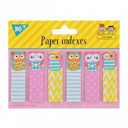 """Индексы бумажные YES """"Rachel Owls"""", 55*15мм 120 шт (6*20), 170233"""
