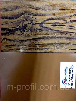 Профнастил ПС-8 3D дерево/грунт 8004/8017, толщина 0,40мм, фото 2
