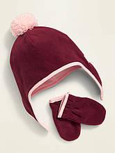 Варежки и шапка детские 3 4 года 5 лет флисовые комплект Old Navy 48-50