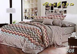 Двуспальное постельное белье Тет-А-Тет (Украина)  ранфорс (808)