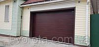 Секционные гаражные ворота DoorHan ш3200мм, в2100мм (цвет махагон), фото 2