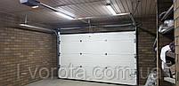 Секционные гаражные ворота DoorHan ш3200мм, в2100мм (цвет махагон), фото 5