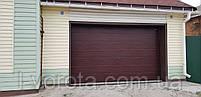 Секционные гаражные ворота DoorHan ш3200мм, в2100мм (цвет махагон), фото 3