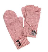 Женские вязаные варежки Victorias Secret тёплые перчатки митенки