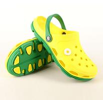 Кроксы сабо сланцы от Jose Amorales,  Желтый размер 36