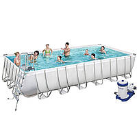 Каркасный бассейн Bestway 56474, 732 х 366 х 132 см (9 463 л/ч, дозатор, лестница, тент), фото 1