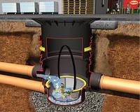 340021 Универсальный фильтр3 (дренажная шахта), (цвет черныйй) чугунный люк