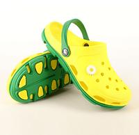 Кроксы сабо сланцы от Jose Amorales,  Желтый размер 37