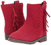 Сапожки Carters детские теплые EUR 25 26 красные ботинки для девочки оригинал картерс