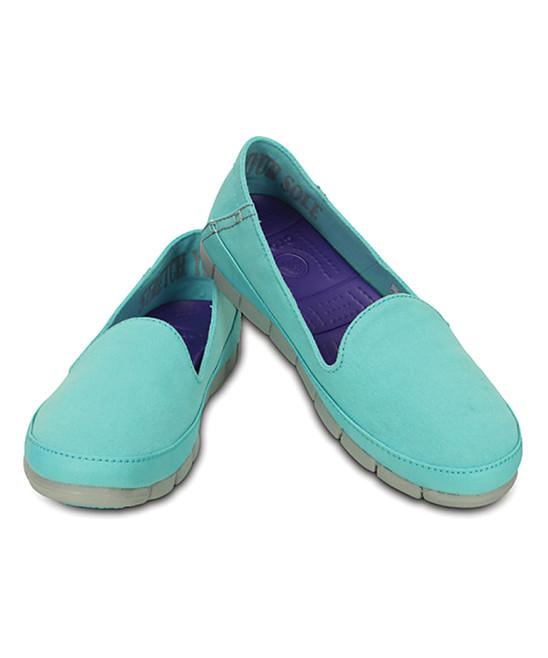Мокасины Crocs женские бирюзовые US 5 EUR 34 35 слипоны балетки оригинал крокс США