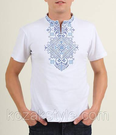 Вишита футболка чоловіча Орел біла
