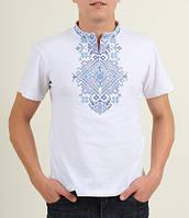 Вишита футболка чоловіча Орел біла, фото 1