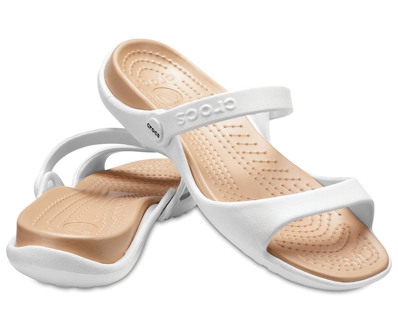 Сандалии Crocs женские белые EUR 33 34 35 37 38 39 40 42 43 US 4 5 8 9 11 Кроксы США 37-38