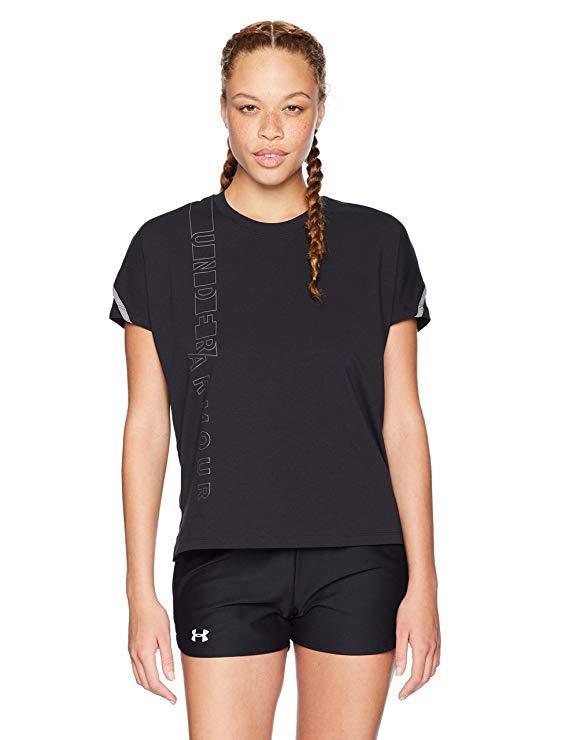 Футболка Under Armour женская черная спортивная размер S L бренд Андер Армор оригинал США S