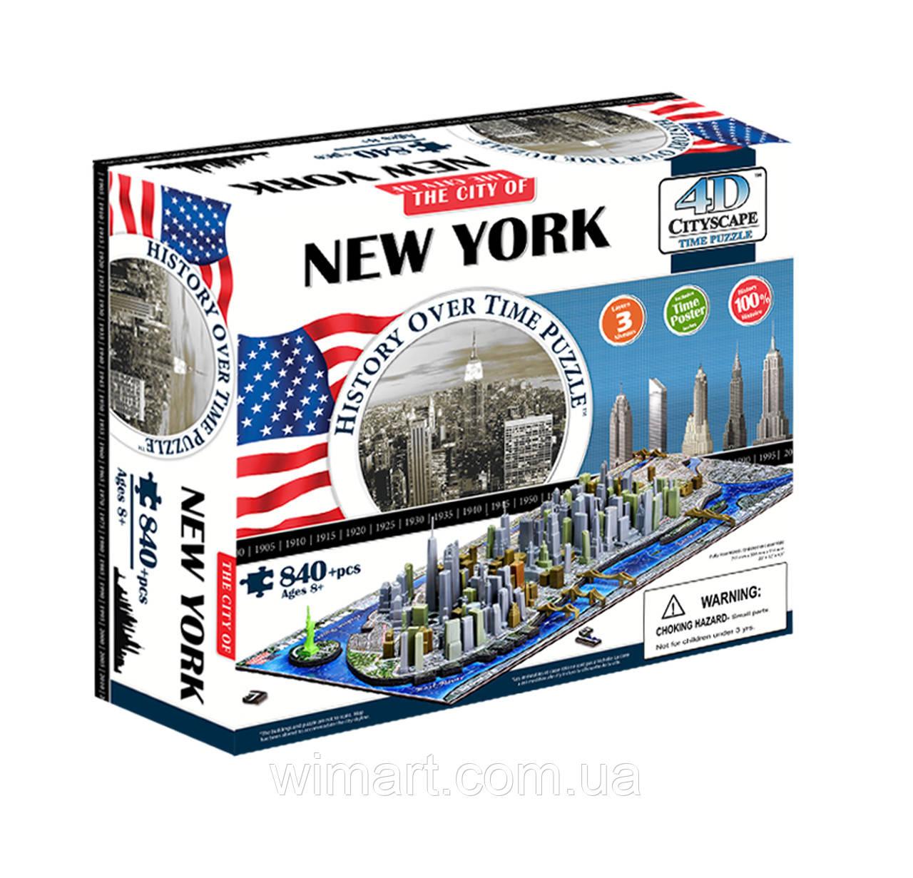 "Объемный пазл 4D ""Нью-Йорк, США"" (40010)"