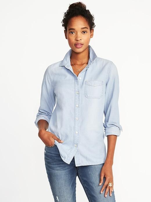 Женская джинсовая рубашка Old Navy размер XS женские рубашки джинс