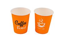 """Стакан бумажный 185мл """"Coffe Time"""" оранжевый (50 шт в рукаве)"""