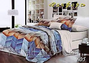 Двуспальное постельное белье Тет-А-Тет (Украина)  ранфорс (805)