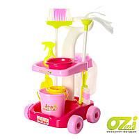 Детский игровой набор для уборки 667-35 розовый
