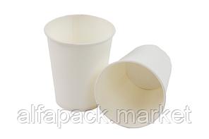 Стакан бумажный 110 мл, белый (50 шт в рукаве) 061410015