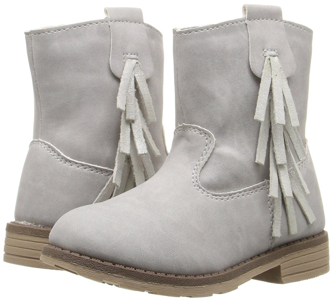 Ботинки Carters серые замшевые детские EUR 25 26 US 9 сапожки для девочки оригинал Картерс демисезонные