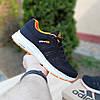 Женские кроссовки Adidas NEO Чёрные с оранжевым Реплика 36 и 37р