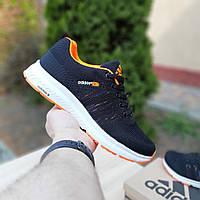 Женские кроссовки Adidas NEO Чёрные с оранжевым Реплика 36 и 37р, фото 1
