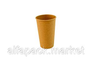 Стакан бумажный 450мл крафт(евростандарт) (50 шт в рукаве) 060550007