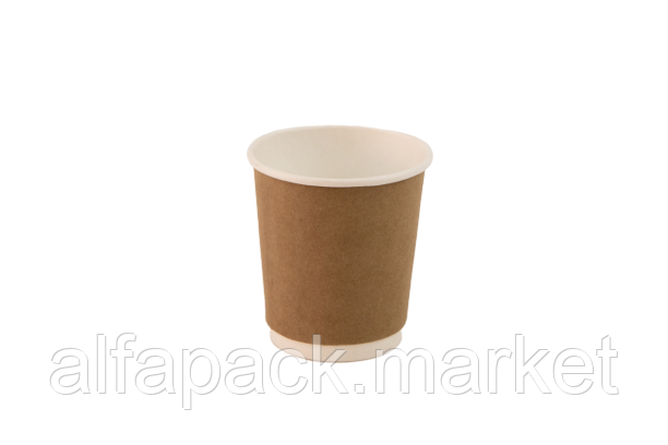 Стакан бумажный 250мл, двуслойный крафт (15 шт в рукаве) 061430017