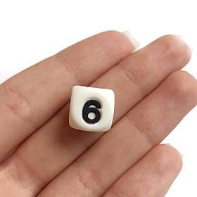 Цифра 6(силиконовые бусины)