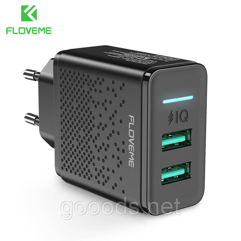 Зарядний пристрій для 2 USB FLOVEME 2.4 A