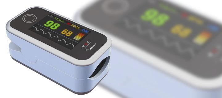 Пульсоксиметр CMS50H 1.3 цветной OLED дисплей, G-сенсор, передача данных на ПК