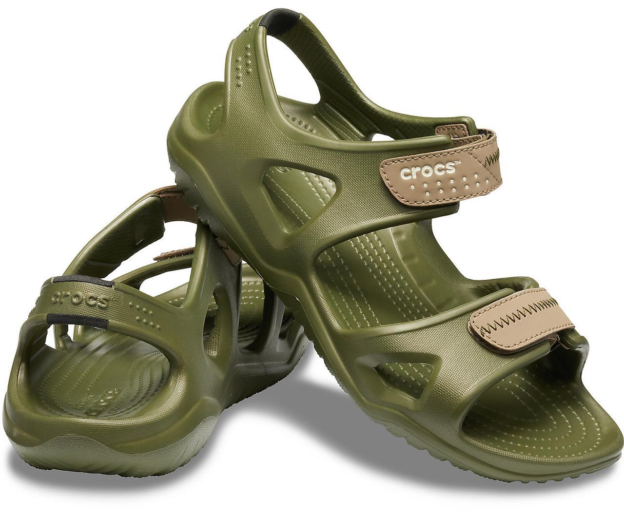 Сандалии Crocs мужские хаки EU 43 44 45 46 47 48 49 сандали оригинал Крокс 43-44