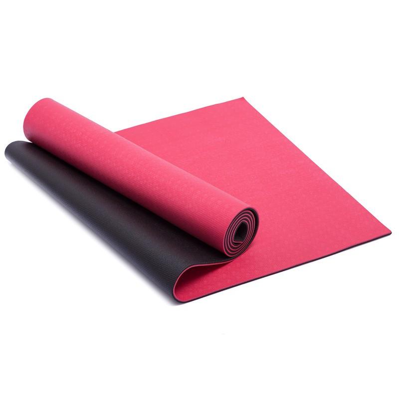 Фитнес-коврик Yoga Mat TPE + PVC 1,83мx0,61мx6мм (FI-1770)