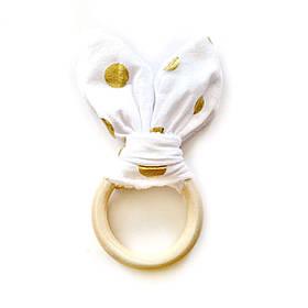 Ушки шуршащие   золотой горох на белом