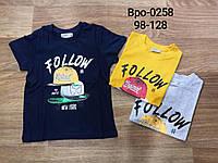Футболки для мальчиков, Glo-story, 98,104,110,116,122,128 см,  № BPO-0258