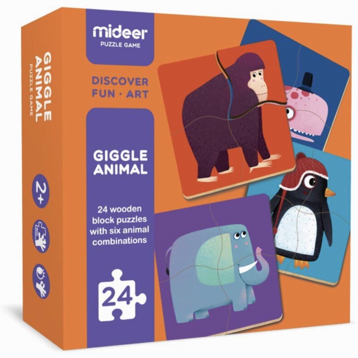 Набір дерев'яних пазлів для малюків «У світі тварин» MiDeer Toys