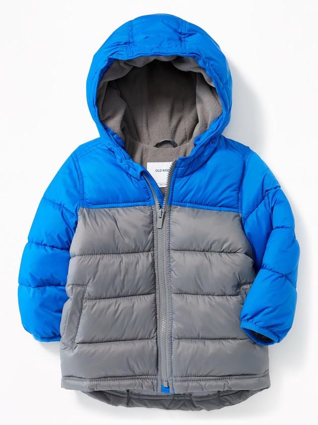 Детская куртка Old Navy синяя с серым размер 18-24М 2Т 84-91