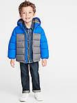 Детская куртка Old Navy синяя с серым размер 18-24М 2Т 84-91, фото 3