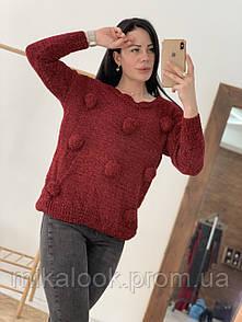 Стильный свитер с бубонами