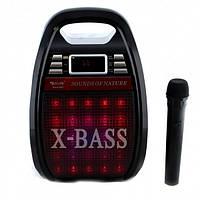 Колонка комбік GOLON RX-820 BT Bluetooth mp3 радіомікрофон світломузика караоке і пульт ДУ