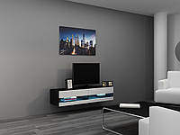 ТВ тумба RTV VIGO NEW MINI 140 (черный/белый) (CAMA)