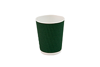 Гофрированный стакан 250 мл, зеленый (20 шт в рукаве) 061430002, фото 1