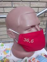 Маска тканевая многоразовая с вышивкой 36.6