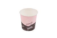 """Стакан бумажный 110мл """"Coffe Latte"""" розовый (50 шт в упаковке)"""