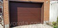 Ворота гаражные секционные DoorHan ш2600мм в2000мм (цвет махагон), фото 2