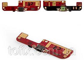 Шлейф для HTC Desire 200, коннектора зарядки, микрофона, с компонентами, оригинал