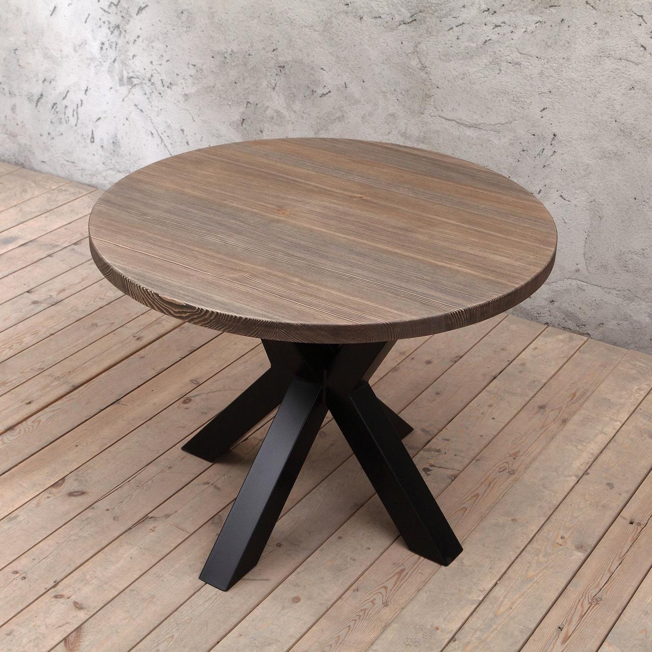 Круглый столик из дерева от производителя DomRom