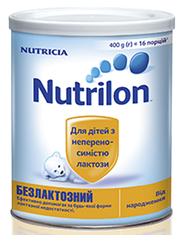 Суміш молочна Nutrilon Безлактозний, 400г